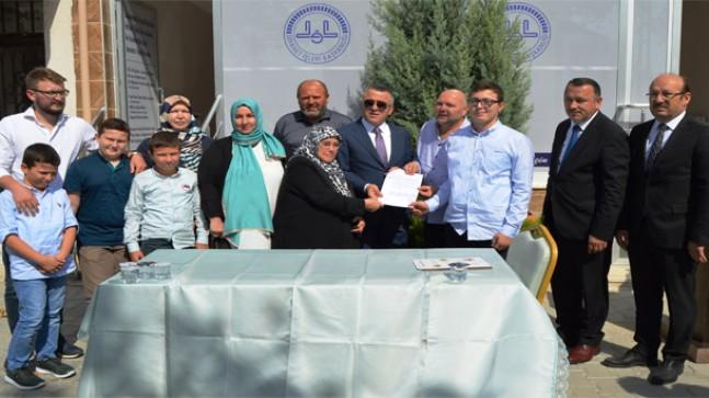 Hayırsever vatandaş Levent Erkan'dan Kırklareli Müftülüğü'ne 4 Milyonluk Bağış