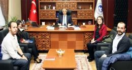 Türk Akımı Projesi Temsilcileri, Rektör Prof. Dr. Bülent Şengörür'ü ziyaret etti