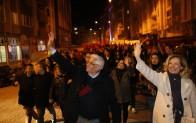 """Cadde ve sokaklar """"Başkan Tuna"""" sloganlarıyla inledi"""