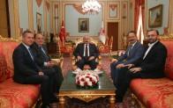AK Partili Başkanlardan Meclis Başkanı Şentop'u ziyaret etti