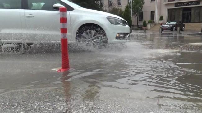 Kırklareli'de sağanak yağış