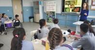 Öğrencilere biyolojik çeşitlilik anlatılıyor