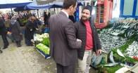 Vize Belediye Başkanı Ercan Özalp'ten pazarcı esnafına ziyaret