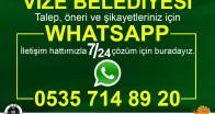 Vize Belediyesi Whatsapp'ta