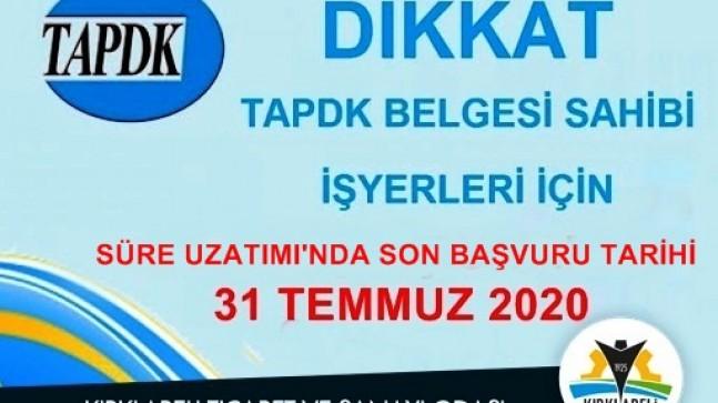 """""""TAPDK Ruhsatları Belge Bedeli Yatırma Süresi 31 Temmuz'a uzatıldı"""""""