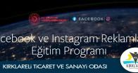 """""""Facebook ve Instagram Reklamları Eğitim Programı"""" için kayıtlar açıldı"""