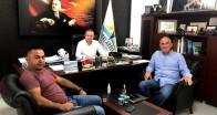 KTSO Başkanı Soner Ilık, Çerkezköylü iş adamı Selman Başar'ı misafir etti
