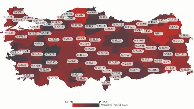 Kırklareli'nde hastanelerin yoğun bakım yatak doluluk oranı yüzde 60,93