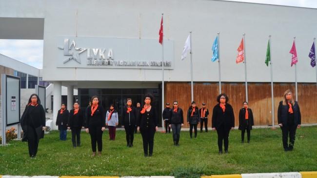 """Lüleburgaz Belediyesi kadınlarından şiddete """"DUR"""""""