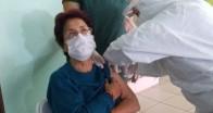 Huzurevi sakinleri Kovid-19 Aşısını oldu